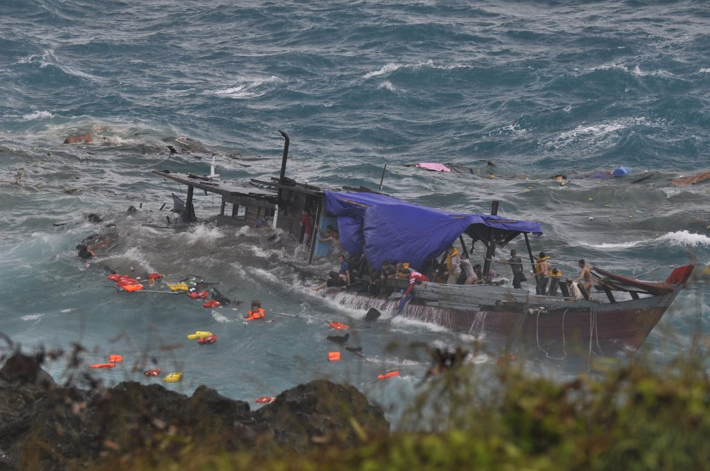 Christmas Island Boat Disaster - After impact 2